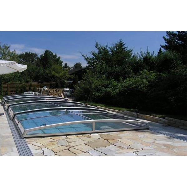 Glasüberdachung Schwimmbad